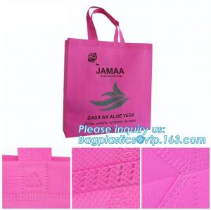 China Environmental Promotional Shopping Bags Eco Gift Tote Non Woven Bag, heat seal die cut handle ultrasonic non woven bag on sale