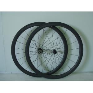 Quality 40mm Depth 25-27.5mm width Aero 700C Carbon Bike Wheelset with Baslt BrakeTrack for sale