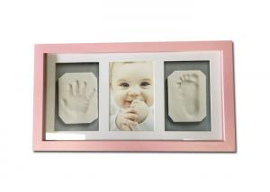 China Pink Baby Clay Frame Air Dry Light Clay Life Memory Shower Gift Without Cracking on sale