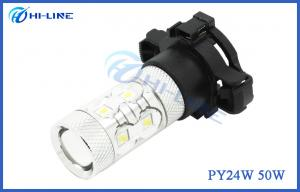 China Warm White Auto LED Daytime Running Lights , 750LM 50W Bright PY24W LED Fog Lamps on sale