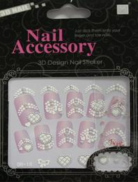 China ODM design very simple beautiful nail art rhinestone nail stickers for skin ceramic, metal on sale