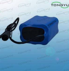 China Safety Lithium Ion Rechargeable Battery 7.4V 6600mAh For Bicycle Lights on sale