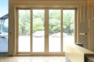 China 1.8mm Aluminum Frame Sliding Glass Doors on sale