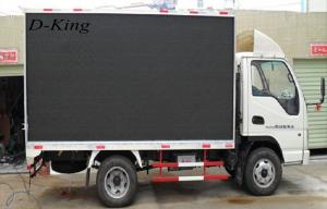 China High-Definition P10 Truck Mounted Led Screen For Outdoor , 10000/㎡ Pixel on sale