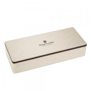 China 240*100*45mm pu leather stationery box for 5-star hotel room on sale