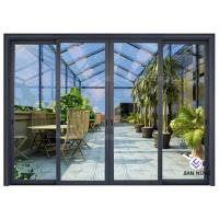Thermal Break Aluminium Sliding Glass Doors Color Optional With Security System