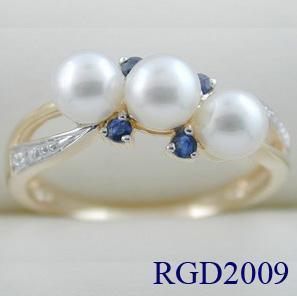 China Fine Jewelry-10k Yellow Pearl Ring (RGP2009) on sale