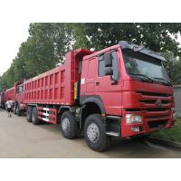 China Ventral Lifting Sinotruk 8x4 Heavy Duty Dump Truck 300L With Locking Fuel Cap on sale