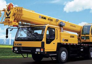 China 25t truck crane, XCMG crane, telescopic crane on sale