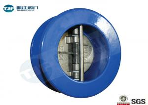 China Dual Plate Check Valve , Cast Iron Wafer Type Non Return Valve PN 10 on sale
