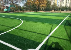 China Strong Laying Artificial Grass , Fake Grass Carpet For High Standard Football Field on sale