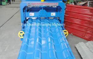China 5.5KW Hydraulic Arc Glazed Roof Tile Roll Forming Machine For Family Construction on sale