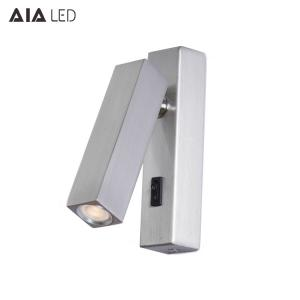 China Modern IP20 Knob Switch adjustable led wall lamp interior 3W led wall reading lights for hotel on sale