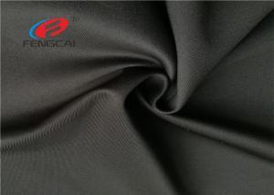 China 280 GSM Black Scuba Crepe Fabric , Scuba Knit 4 Way Stretch Spandex Fabric on sale