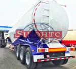China 55 000 Liters Bulk Cement  Tank Semi Trailer Three Axles Leaf Spring Suspension wholesale