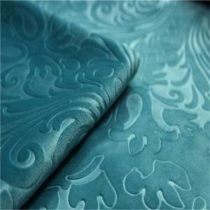 China Non Woven Sofa Cloth Fabric , 3d  Embossed Suede Fabric For Garment on sale