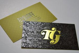 China Foil la tarjeta de visita modificada para requisitos particulares de la tarjeta de visita/la tarjeta de visita plástica on sale