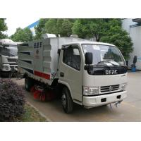 Dongfeng Street Vacuum Truck , Garbage Street Sweeper Truck With 4 Brushes