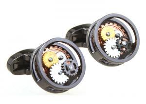 China High-end Mechanical Watch Movement Cufflinks Tourbillon Cuff Nails Gear Cuff Button Watch Cufflinks on sale