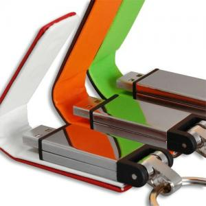 China Leather USB Flash Disk , Write Protected Usb Flash Drive on sale