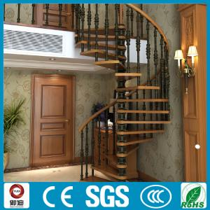 Quality Modern Appearance Steel Wood Spiral Staircase Used In Villa For Sale