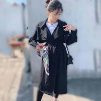 China Long Women Trench Coats Wind Coats For Ladies with Belt, Spring and Autumn on sale