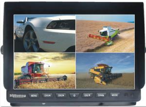 China Heavy Duty Trailer 10.1 Car TFT LCD Monitor With Quad Splitter Built-In & U Shape Brackets on sale