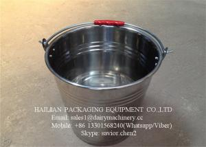 China Food - Grade Stainless Steel Water Bucket , Water Barrel For Milk on sale