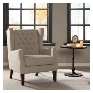 China Lounge Arm Accent Chair , Cream Occasional ChairWith Solid Frame Construction on sale