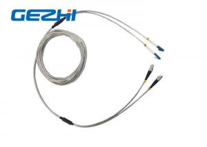 China Full Armored Outdoor Optic Fiber Patch Cord DLC 2 Core Optical Cable Assembly on sale