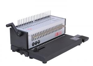 China A4 Size Electric Comb Binding Machine With Foot Pedal Controlled , 3x8 Mm Hole Size on sale