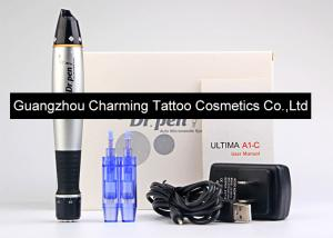 China Black And Silver Dr Pen Auto Microneedle System Machine Electric Vibrating Pen on sale