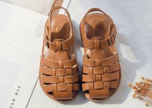 China Rubber Sole Buckle Strap Toddler Girl Gladiator Sandals on sale
