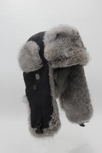 China Rabbit Fur Hat with Nylon Cover on sale