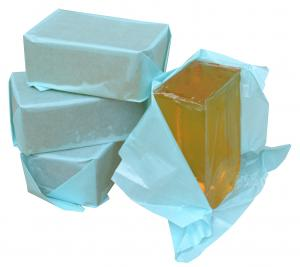 China Stick Fast GA525 Hot Jelly Glue For Manual Wrapping Boxes Blocky Structure supplier