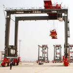 40 Ton 30 Ton Ship To Shore Container Cranes Double Beam Electric Lifting