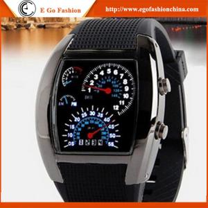 China Cheap Christmas Gift Watches Unisex Wristwatch Silicone Watch CE Rohs Sports Watch LED New on sale