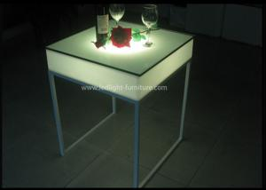 China 60*60cm Square Customized LED Cocktail Table , Portable Light Up Bar Table  on sale