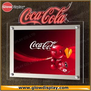 China Crystal Acrylic Slim LED Sign Boards Wall Mounted Indoor For Advertising on sale