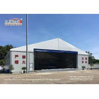 Waterproof And Flame Retardant Cover Aircraft Hangar Tent With Auto Roll Up Door / 25m Width Aluminum Frame