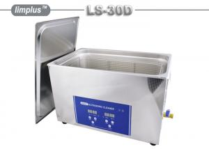 China 30Liter Ultrasonic Cleaning Device , Heated Ultrasonic Parts Cleaner For Electronics on sale