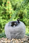 Fontes exteriores modernas materiais do cimento, fontes do jardim da pedra da cor da rocha