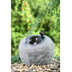 Fontaines extérieures modernes matérielles de ciment, fontaines de jardin de pierre de couleur de roche
