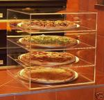 Acrylic Bakery Display Case , 4-Tier Plexiglass Pizza Display Stand