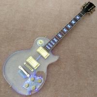 High quality Standard LP acrylic electric guitar, rosewood Fingerboard LED light LP 1959 R9 electric guitar, free shippi