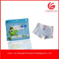 Resealable Zippered Plastic Packaging For Clothing Children Underwear Use