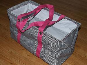 China Thirty One Large 21 x 12 x 10 Utility Tote Shopping Laundry Storage Bag PINK on sale
