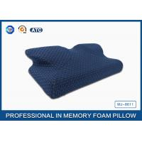China Newest Moulded Visco Elastic Memory Foam Curved Cooling Gel Pillow Preventing Numb Arm on sale