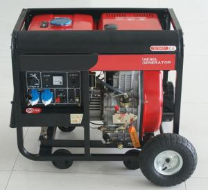 China 5000 Watt Pull start open frame portable diesel power generator AC Single Phase on sale
