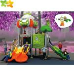 Anti Static Outside Playground Equipment With Children Plastic Slide Sets Toys
